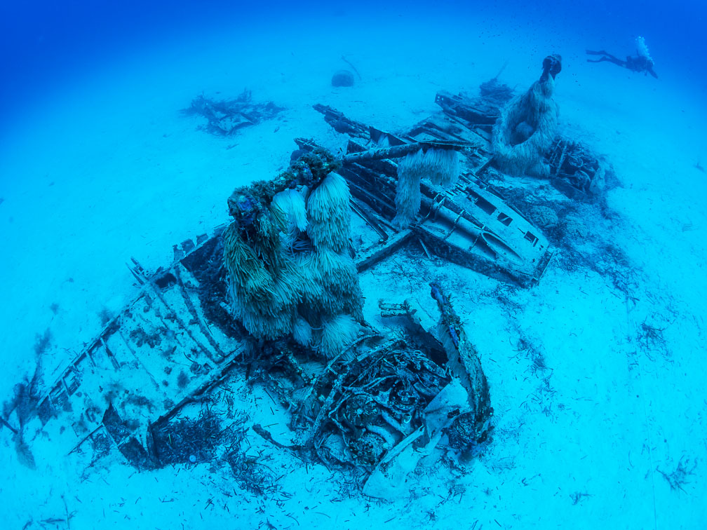 Bristol Beaufighter wreck diving on a plane in Malta